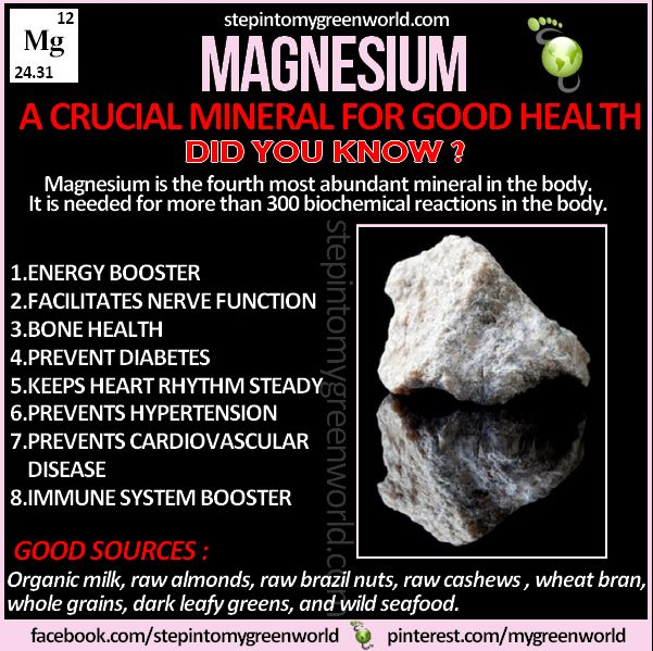 Need to take my Magnesium Malate again Magnesium - myriad of good for the body! from stepintomygreenworld.com