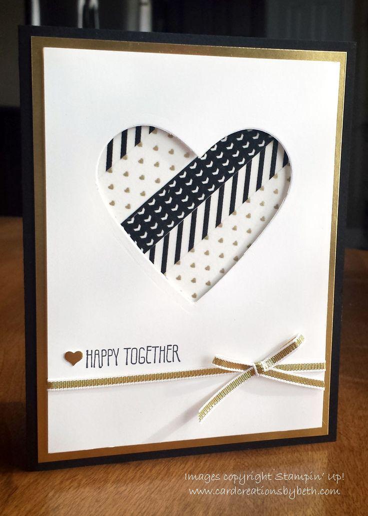 Washi Wedding Card; Card Creations by Beth