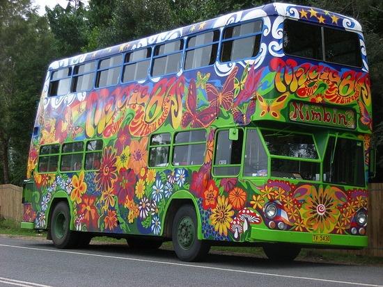 the Magic Bus to Nimbin, Australia
