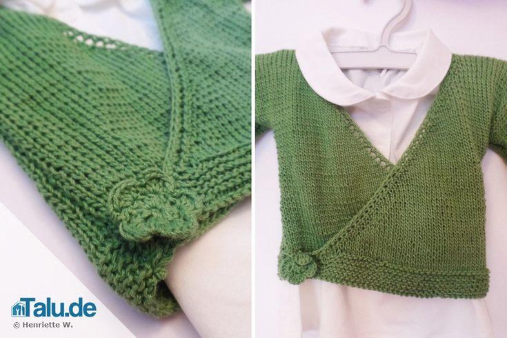 Kuschlige, süße Babyjäckchen können Sie ganz einfach selbst machen. In unserer DIY-Anleitung lernen Sie, wie Sie eine Babyjacke stricken können.