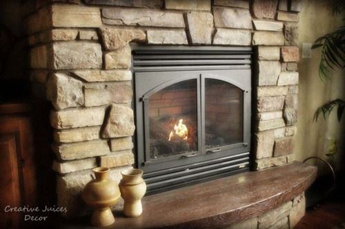 Rustic Tuscan Fireplace House Design Pinterest