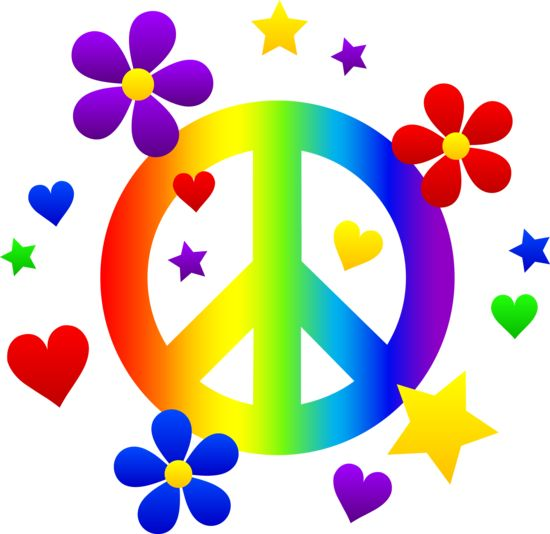 free clip art of a rainbow peace sign with hearts stars and rh pinterest com peace clip art images peach clip art