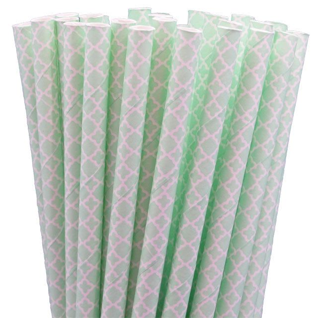 Greenmunch - Paper Straws - Mint Green Lace, $4.50 (http://www.greenmunch.ca/paper-straws/standard-length/patterns/paper-straws-mint-green-lace/)