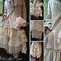 MLLE FLORA : Veste en lin rayée Les Ours, tunique decalée en coton Les Ours, Jupon en Organdi EWA IWALLA,