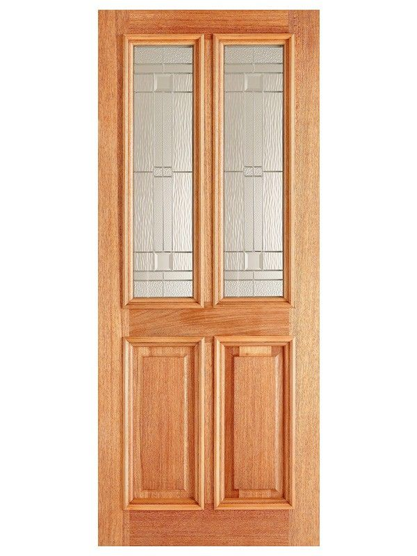 Derby Elegant Glazed External Hardwood Door - Unfinished Double Glazed - Hardwood Doors - External Doors