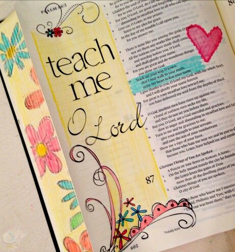 Teach me // found on Bible Art Journaling of Cindy Byrne