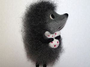 "Needle felted hedgehog main character from the beautiful russian animaion ""Hedgehog in the fog"". So beautiful."