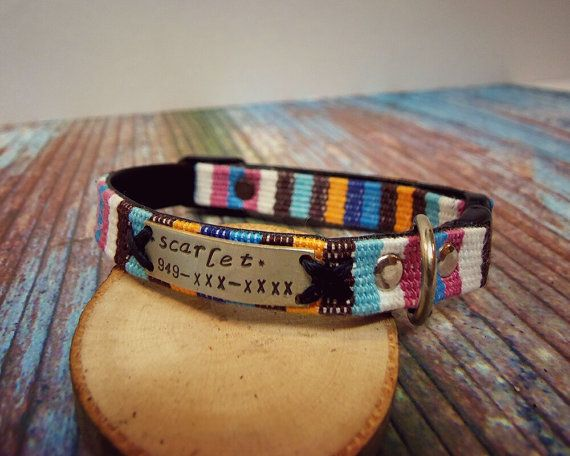 Cat Collar cat collar breakaway personalized cat by VacForPets