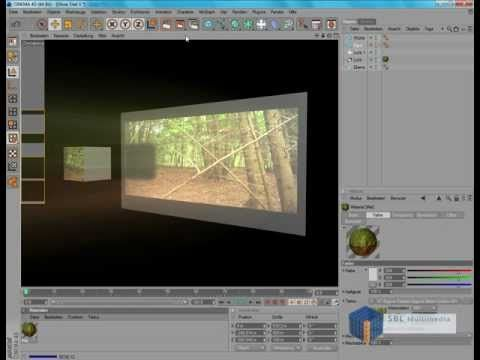 CINEMA 4D Tutorial : Leinwand Projektion wie im Kino DEUTSCH / GERMAN