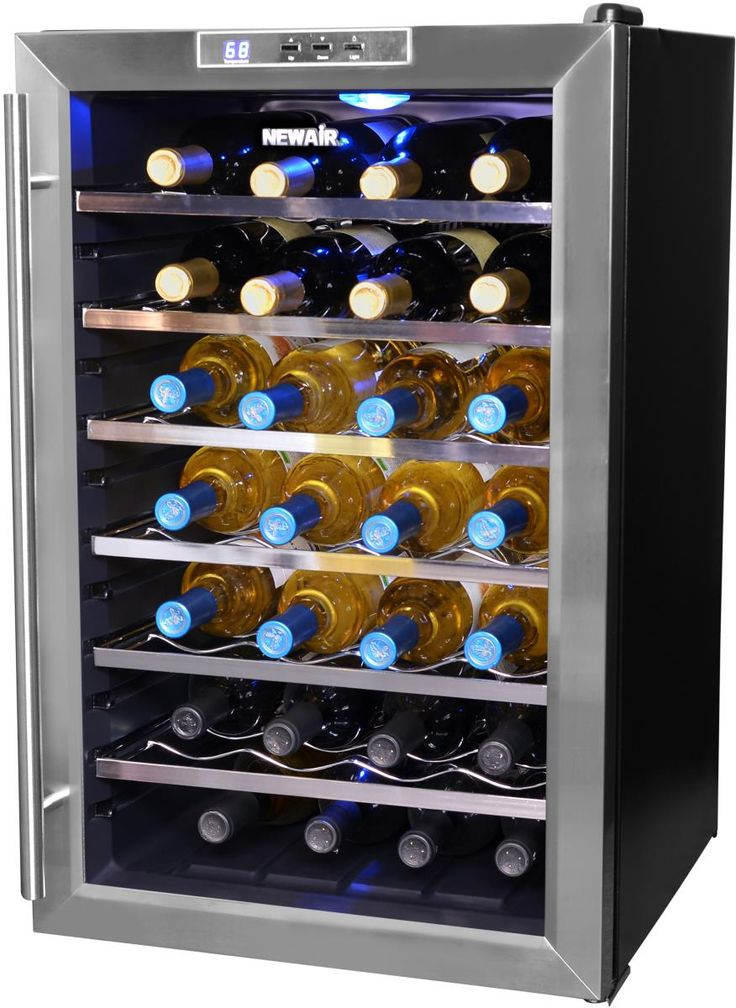 AW-281E NewAir 28 Bottle Wine Cooler With Chrome Plated Racks