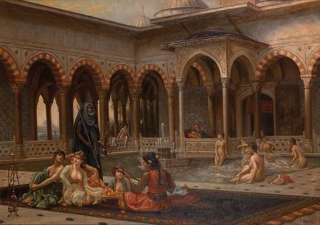 F. Mazarin, After Jean-Léon Gérôme La terrasse du sérail oil on canvas  85 x 120 cm | MutualArt