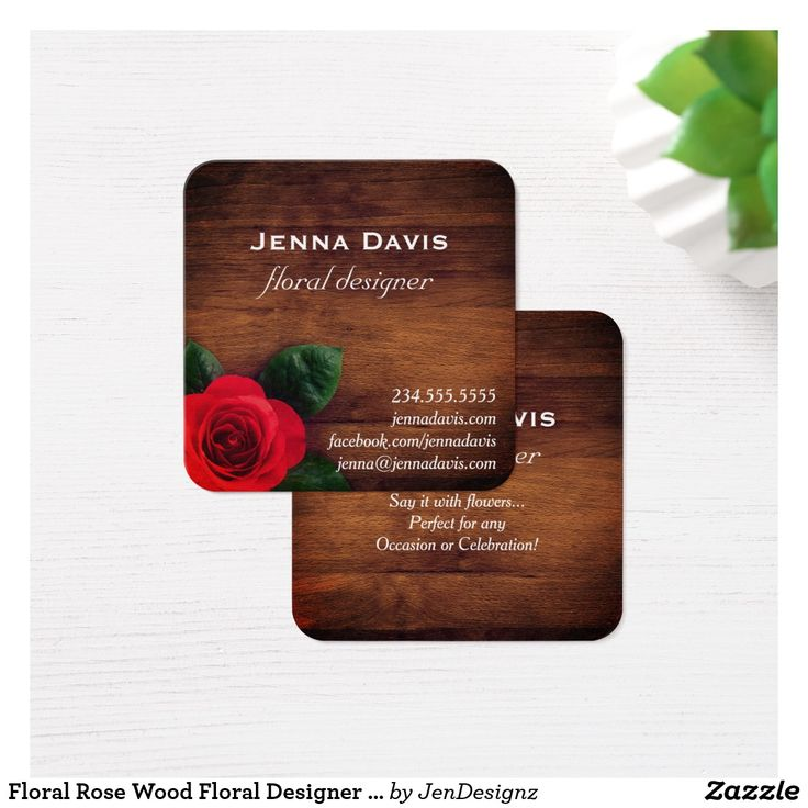 zazzle wedding invitations promo code%0A Floral Rose Wood Floral Designer Business Card