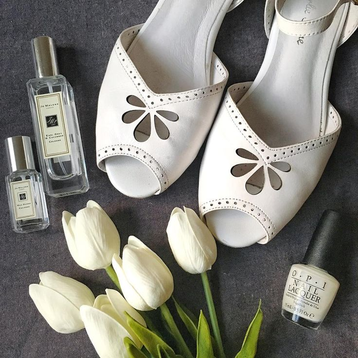 Vintage flats from Charlie Stone Shoes. Made from 100% quality soft white leather.