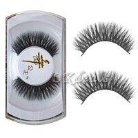 Wish   100%Real Mink Natural Thick False Fake Eyelashes EyeLashes Makeup Extension