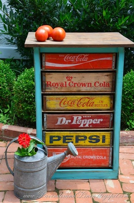 Scrounge together some other drink crates and use them as mismatched drawers.