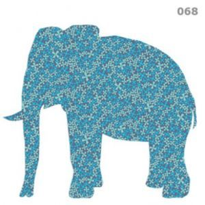 Elephant - The silhouette of a tattoo, but with the trunk up.  Then filled in with many traditional Indian designs.