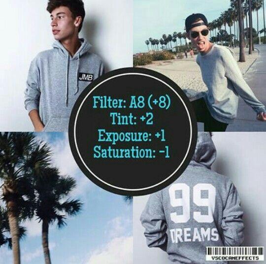 A8 +8 Tint +2 Exposure +1 Saturation -1
