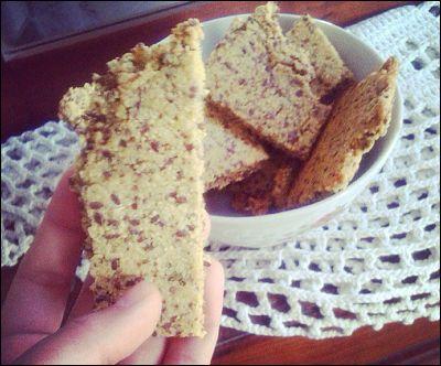 Crakers de harina de garbanzo y linaza, sin harinas