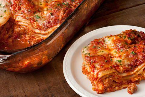 Turkey Sausage Lasagna (add spinach)