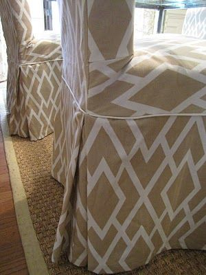 slipcover parson chairs- tutorial