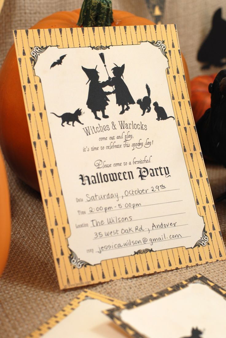 printable horse birthday party invitations free%0A FREE Halloween Party Printables from B Nute Productions