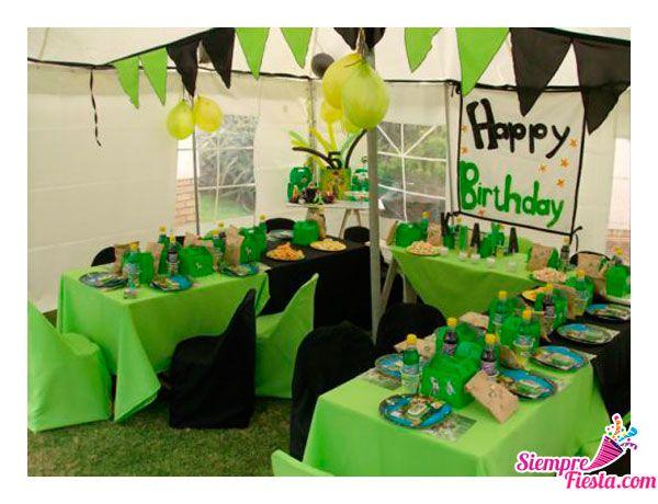 Incre bles ideas para una fiesta de cumplea os de ben 10 - Cosas para fiestas de cumpleanos ...