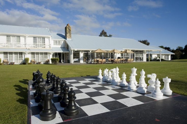 Chess Board Hotel Reservation Area at Amora Lake Resort Okawa Bay, Rotorua  New Zealand