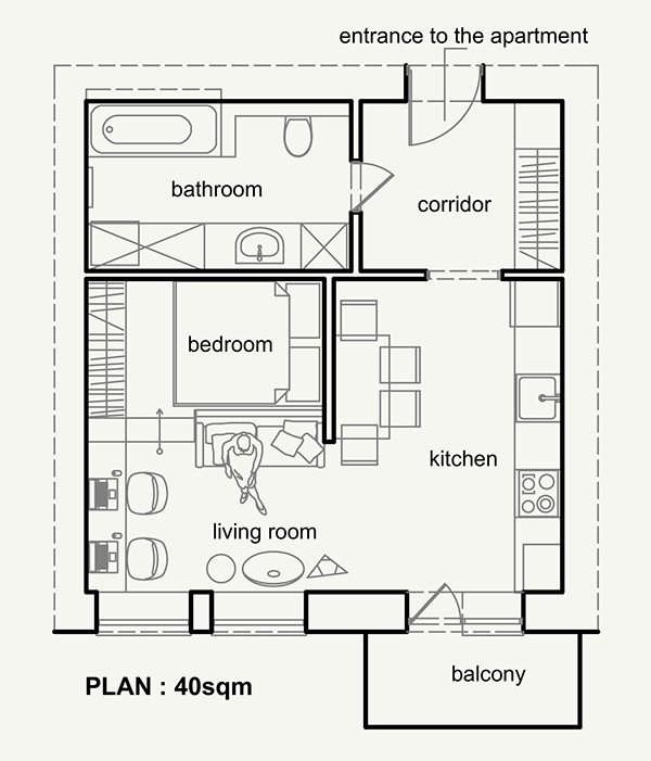 Small Flat Plan 50 best tiny home floor plan images on pinterest | architecture