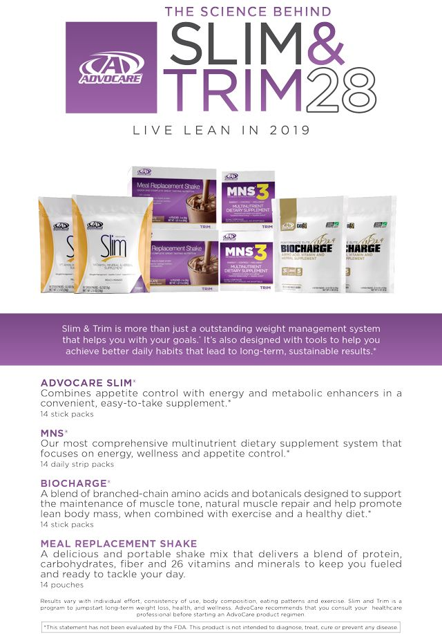 Slim Trim 28 Advocare Weight Management Good Habits