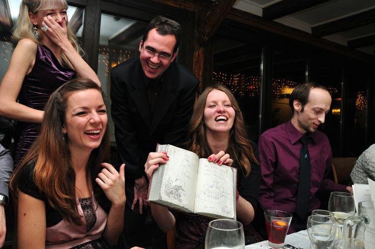 indoor wedding party - people have fun