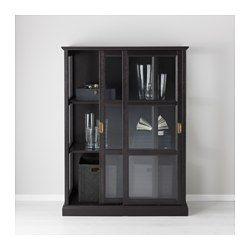 IKEA - MALSJÖ, Vitrinskåp, 102x141 cm, , Glasdörrar håller dina favoriter dammfria men synliga.Välarbetade detaljer ger möbeln en påtaglig hantverkskaraktär.Massivt trä är ett slitstarkt naturmaterial.