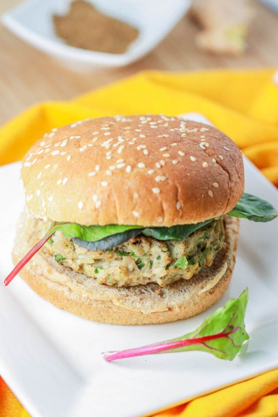 Indian spiced burger