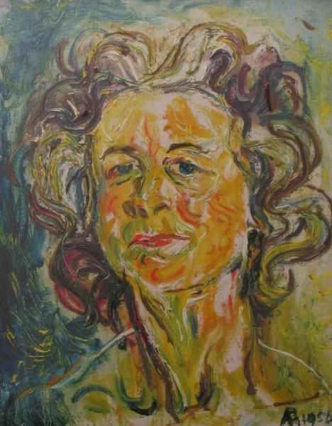 A painting by Affandi (1907-90) - Indonesia's most famous artist.