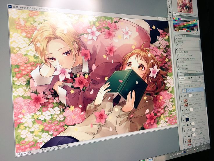 Haruki and Miou color Honeyworks