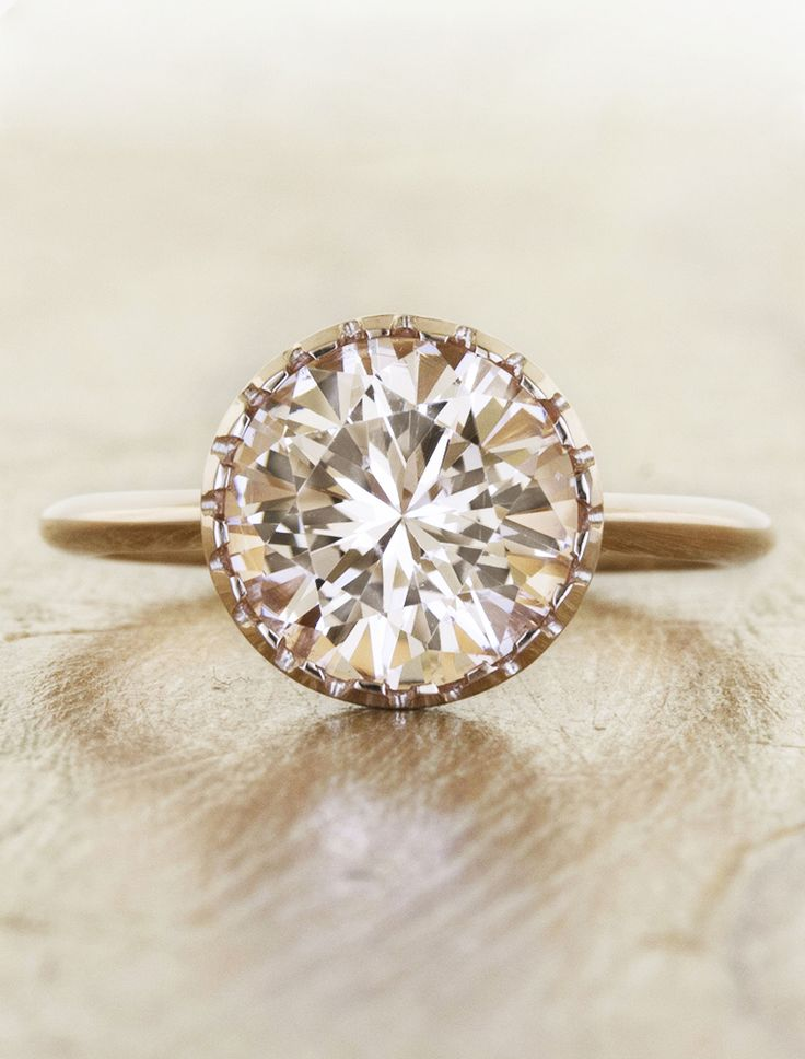 Unique engagement rings with morganites by Ken & Dana Design in NYC