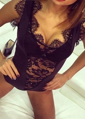 62a070ecb  Valentines  AdoreWe  CHICUU -  CHICUU Sexy Women Lingerie Jumpsuit Sheer  Lace Bra Thongs Erotic Sleepwear Rompers Underwear - Adore…