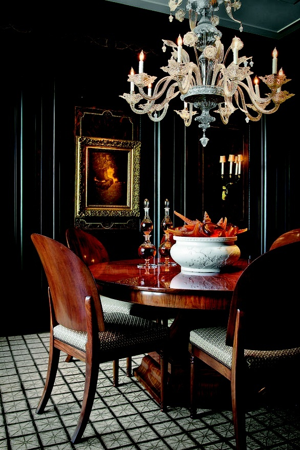 Dramatic Dining Room Walls