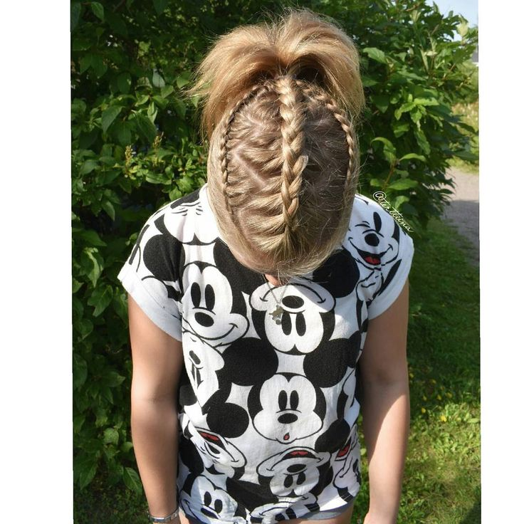 Braids & Hair by @terttiina Instagram: dutch braid with zig zag lining and two dutch lace braids into a ponytail.