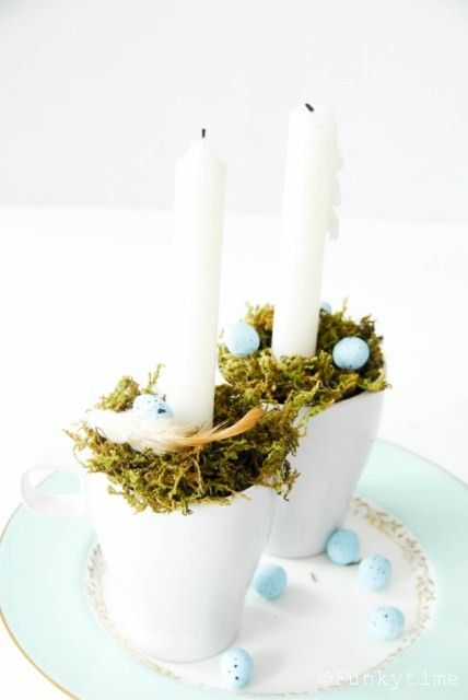 Cups of Light {Easter Decoration}