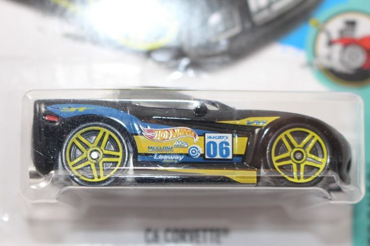 Hot Wheels ^C6 Corvette^ TOONED 8/10 NEW bent card  #HotWheels