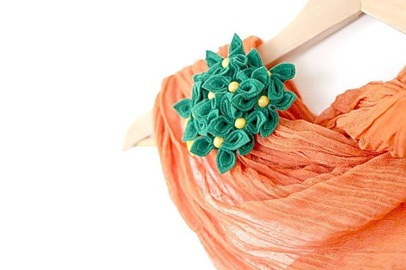 Spring Bouquet Felt Flower Brooch by GoodFloristDesign on Etsy, $35.00