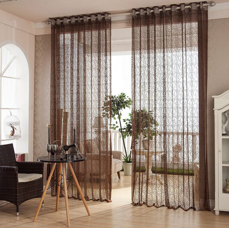 European style jacquard design home decoration modern curtain tulle fabrics organza sheer panel window Living room balcony #Affiliate