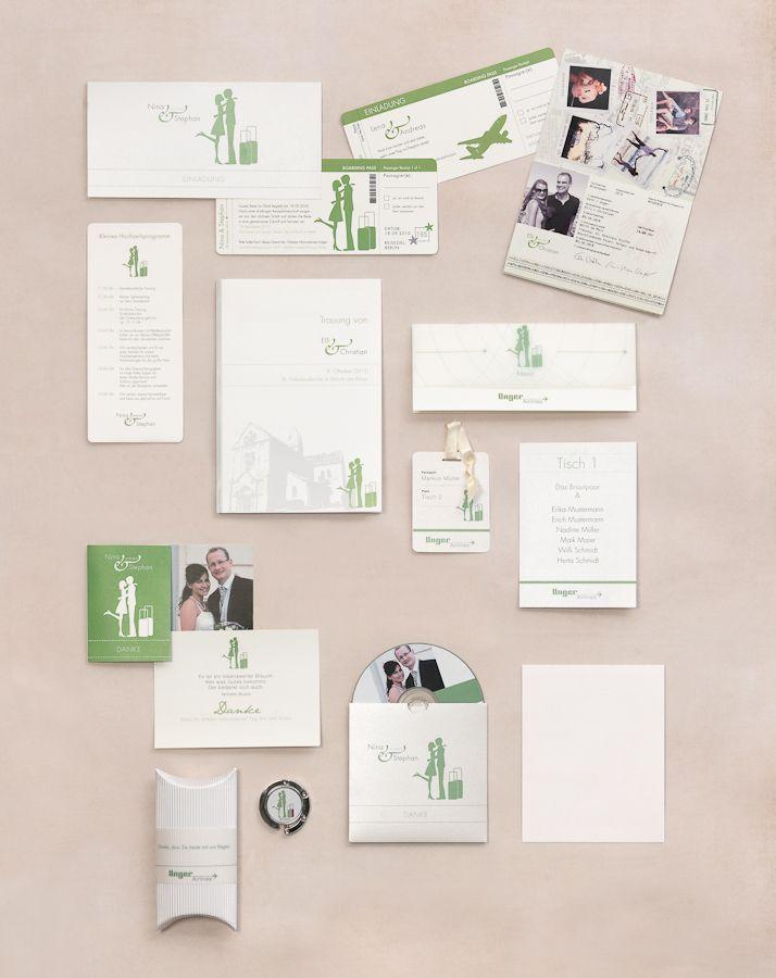 Reise ins Glück - Papeterie, Hochzeitspapeterie, Karten, Einladung, Kirchenheft, Danksagung, Save-the-Date, Menü, Programmheft, Hochzeitszeremonie