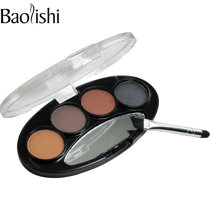 Baolishi Natural duradero Impermeable potencia Kit de la Ceja de La Pluma de Maquillaje En Polvo Sombra de ojos de la Ceja Shaper Forro Cosméticos de Maquillaje herramienta