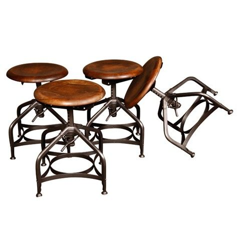 Set of 4  Original  Vintage Industrial  Backless Toledo Stools at Get Back  Inc. 181 best Furniture images on Pinterest   Lounge chairs  Dining