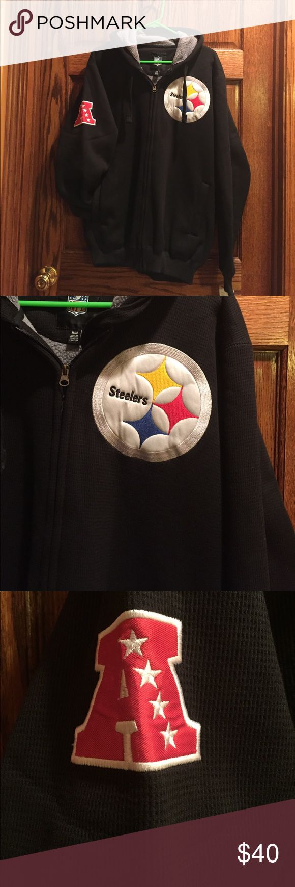Pittsburgh Steelers fleece zip up NWT NWT bought recently at nfl store he doesn't like it NFL Shirts Sweatshirts & Hoodies