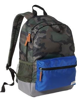 Boys Patterned Backpacks