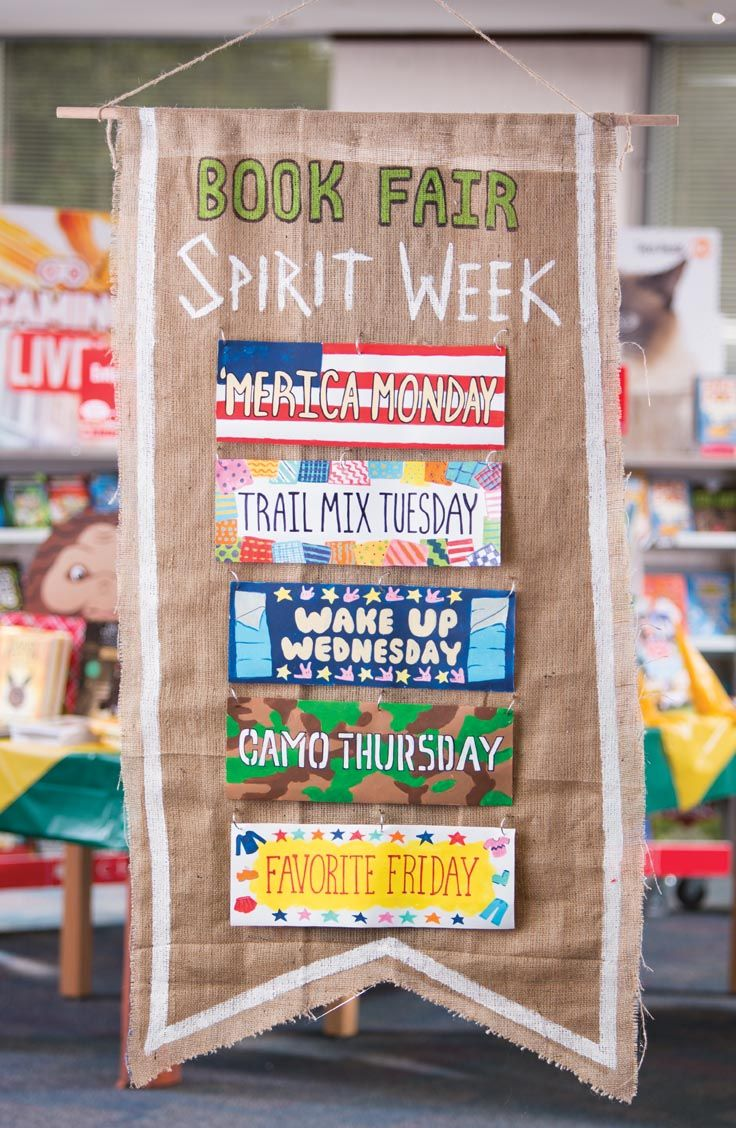 Book Fair Spirit Week! Promote a different dress-up day each day of your Fair. Students who visit the Fair get entered in a raffle for a chance to win a prize.