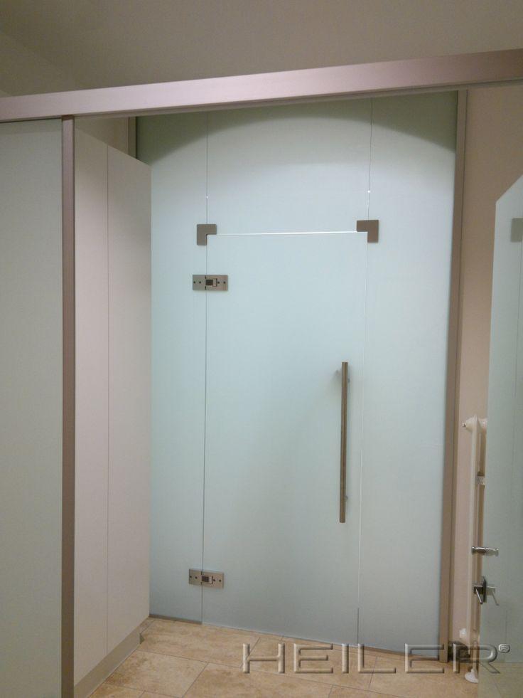 HEILER Raumteiler aus Glas mit Innentüre