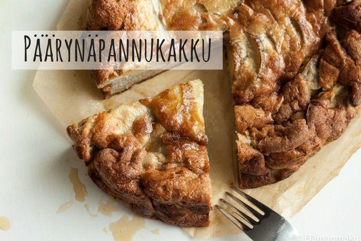 Karkkipäivä: Päärynäpannukakku (viljaton, luonnollisesti makeutettu, maidoton, pähkinätön)